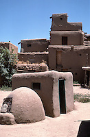 Adobe bread oven in Taos Pueblo, New Mexico