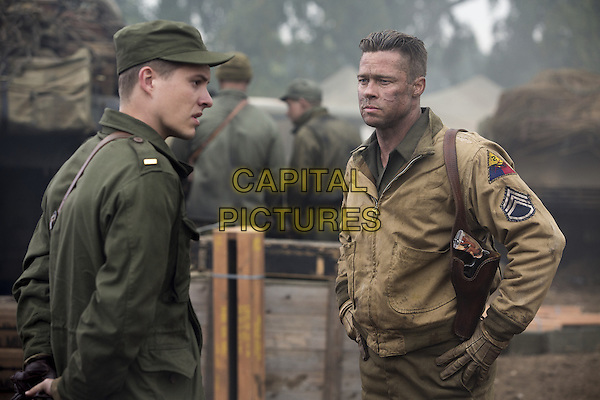 Xavier Samuel, Brad Pitt<br /> in Fury (2014)  <br /> *Filmstill - Editorial Use Only*<br /> CAP/NFS<br /> Image supplied by Capital Pictures