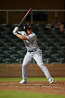 Mesa Solar Sox Jahmai Jones (7), of the Los Angeles Angels organization, at bat during an Arizona Fall League game against the Salt River Rafters on September 19, 2019 at Salt River Fields at Talking Stick in Scottsdale, Arizona. Salt River defeated Mesa 4-1. (Zachary Lucy/Four Seam Images)