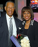 The Rev. Bill Lawson and his daughter Melanie Lawson at the NAACP's Hollywood Comes to Houston party at Advantage BMW Thursday  Feb. 12, 2009.(Dave Rossman/For the Chronicle)