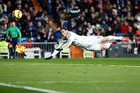 James of Real Madrid scores during La Liga match between Real Madrid and Sevilla at Santiago Bernabeu Stadium in Madrid, Spain. February 04, 2015. (ALTERPHOTOS/Caro Marin) /NORTEphoto.com