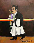 To the Honeymoon Suite<br /> 16x13 Acrylic on Canvas Original Painting<br /> $6,500