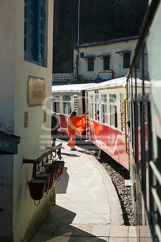 Shimla, Himachal Pradesh, India. The Himalayan Queen, the Toy Train from Shimla to Kalka