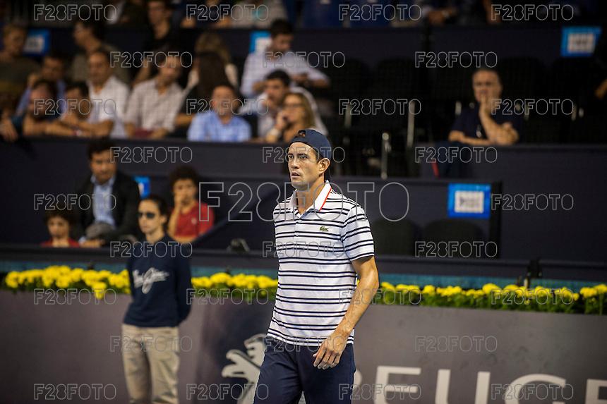 VALENCIA, SPAIN - OCTOBER 27: Guillermo Garcia Lopez during Valencia Open Tennis 2015 on October 27, 2015 in Valencia , Spain