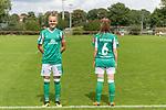02.08.2020, wohninvest Weserstadion Platz 12, Bremen, GER,FSP, FLYERALARM, FFBL SV Werder Bremen vs  SV Henstedt-Ulzburg, <br /> <br /> <br /> <br />  im Bild<br /> <br /> Die Spielerinnen kommen mit dem neuen Werder Trikot zum Testspiel auf den Platz<br /> Lina Hausicke (WerderBremen18) (li) und Reena Wichmann (WerderBremen6)<br /> <br /> Foto © nordphoto / Kokenge