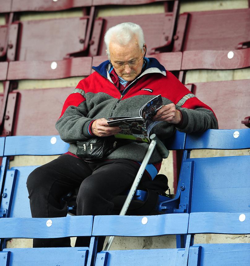 Burnley fans before kick off<br /> <br /> Photographer Chris Vaughan/CameraSport<br /> <br /> Football - Barclays Premiership - Burnley v Stoke City - Saturday 16th May 2015 - Turf Moor - Burnley<br /> <br /> &copy; CameraSport - 43 Linden Ave. Countesthorpe. Leicester. England. LE8 5PG - Tel: +44 (0) 116 277 4147 - admin@camerasport.com - www.camerasport.com