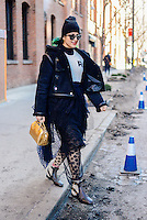 Preetma Singh attends Day 2 of New York Fashion Week on Feb 13, 2015 (Photo by Hunter Abrams/Guest of a Guest)
