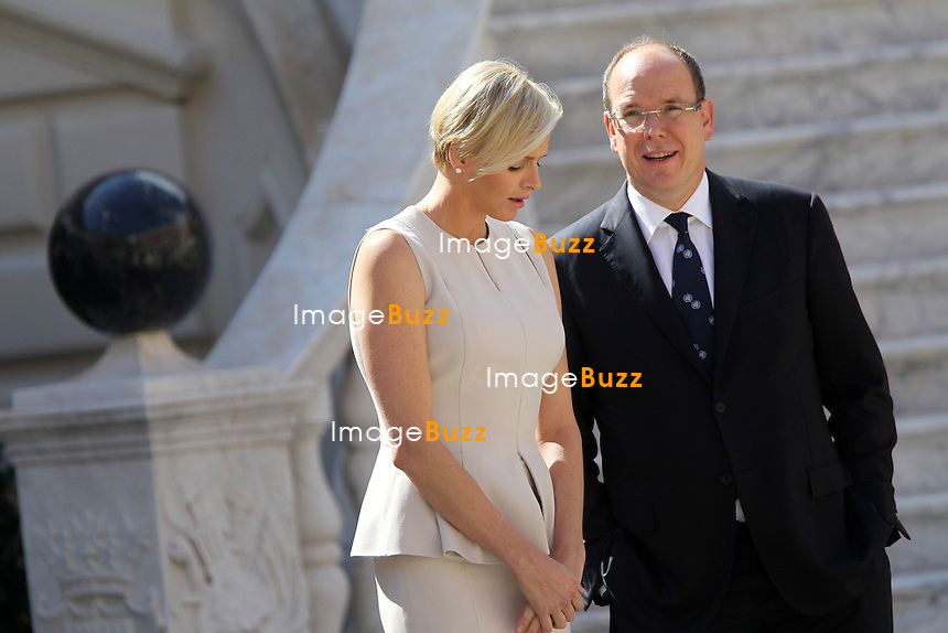 PRINCE ALBERT OF MONACO & CHARLENE RECEIVE SECRETARY GENERAL BAN KI-MOON-Ban Ki-Moon, the eighth and current Secretary-General of the United Nations, and wife Yoo Soon-taek welcomed by T. S. H. Prince Albert and Princess Charlene of Monaco at Monaco Palace for the commemoration of the 20th anniversary of the admission of Monaco to the United Nations....
