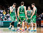 S&ouml;dert&auml;lje 2015-02-07 Basket Basketligan S&ouml;dert&auml;lje Kings - Bor&aring;s Basket :  <br /> S&ouml;dert&auml;lje Kings Darko Jukic , Christopher Czerapowicz , Mike Joseph och Aaron Andersson deppar under matchen mellan S&ouml;dert&auml;lje Kings och Bor&aring;s Basket <br /> (Foto: Kenta J&ouml;nsson) Nyckelord:  S&ouml;dert&auml;lje Kings SBBK T&auml;ljehallen Bor&aring;s Basket depp besviken besvikelse sorg ledsen deppig nedst&auml;md uppgiven sad disappointment disappointed dejected