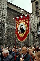 Circulo Católico de Oberos,  Prozession, Burgos, Kastilien-León, Spanien..