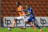 Blackpool's Nathan Delfouneso vies for possession with  Charlton Athletic's Josh Magennis<br /> <br /> Photographer Richard Martin-Roberts/CameraSport<br /> <br /> The EFL Sky Bet League One - Blackpool v Charlton Athletic - Tuesday 13th March 2018 - Bloomfield Road - Blackpool<br /> <br /> World Copyright &not;&copy; 2018 CameraSport. All rights reserved. 43 Linden Ave. Countesthorpe. Leicester. England. LE8 5PG - Tel: +44 (0) 116 277 4147 - admin@camerasport.com - www.camerasport.com