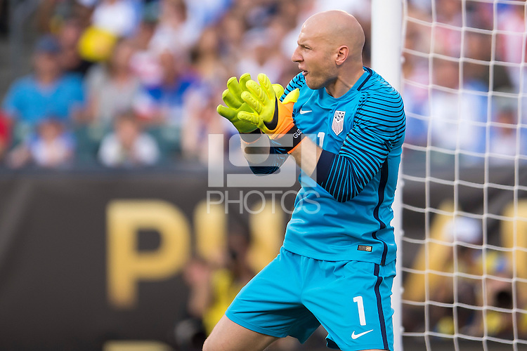 Action photo during the match USA vs Paraguay at Lincoln Financial Field, Copa America Centenario 2016. ---Foto  de accion durante el partido USA vs Paraguay, En el Lincoln Financial Field, Partido Correspondiante al Grupo - D -  de la Copa America Centenario USA 2016, en la foto: Brad Guzan