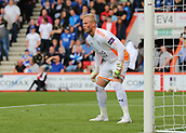 30th September 2017, Vitality Stadium, Bournemouth, England; EPL Premier League football, Bournemouth versus Leicester; Leicester Goalkeeper Kasper Schmeichel prepares for a Bournemouth free kick