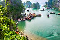 View from Hang Sung Sot Cave. Ha Long Bay. Qu?ng Ninh province, Vietnam.