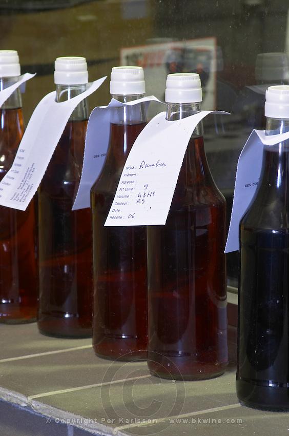 wine sample bottles mas du notaire rhone france