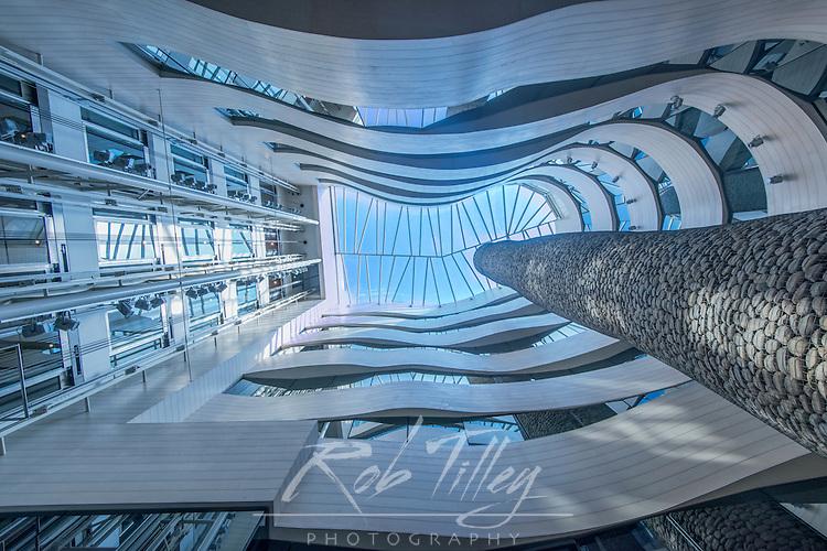 Spain, Bilbao, Silken Gran Hotel Domine Lobby Skylight