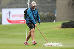 Rain causes a during the Barfoot and Thompson Charles Tour, Akarana Open, Akarana Golf Club, Auckland, Sunday 17  April 2016. Photo: Simon Watts/www.bwmedia.co.nz