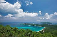 Overlook art Megan's Bay. St. Thomas. US Virgin Islands.