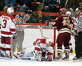Alex Biega (Harvard - 3), Ryan Carroll (Harvard - 35), Ben Smith (BC - 12) - The Boston College Eagles defeated the Harvard University Crimson 3-2 on Wednesday, December 9, 2009, at Bright Hockey Center in Cambridge, Massachusetts.