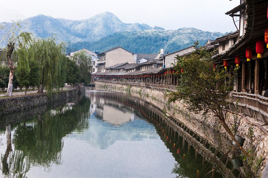Yantou, Yongjia, Zhejiang, China.  Lishui Street, dating from 16th. Century.