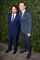 Edgar Wright &amp; Simon Pegg arriving for the 2018 Charles Finch &amp; CHANEL Pre-Bafta party, Mark's Club Mayfair, London, UK. <br /> 17 February  2018<br /> Picture: Steve Vas/Featureflash/SilverHub 0208 004 5359 sales@silverhubmedia.com