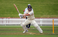 Luke Woodcock bats on day one of the Plunket Shield cricket match between Wellington Firebirds and Central Stags in Wellington, New Zealand on Wednesday, 17 March 2018. Photo: Dave Lintott / lintottphoto.co.nz