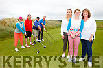 A charity golf classic was held at Ballybunion Golf Club on Friday organised by St Mary's of the Angels Parents and Relatives Association. Pictured were: Carmel Bambury Ryan, Kevin Barry, Joe Joe O'Connor and John Bambury watched on by Jessica, Breda and Sarah Keane.