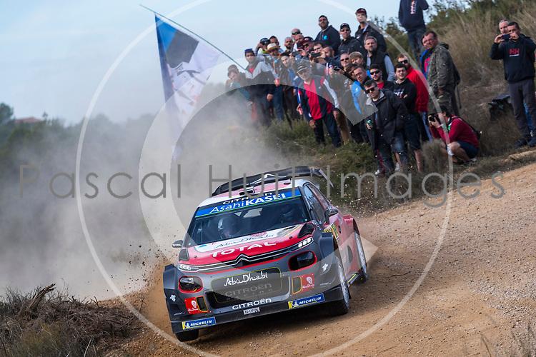 Khalid AL QASSIMI (UAE)-Chris PATTERSON (GBR), CITROEN C3 WRC #12, CATALUNYA RALLY 2018