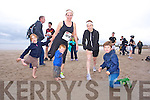 Catherine Keane, Michael Keane, Marie Keane, Sara Griffin and Calvin Griffin at the The Brandon Bay half marathon and 10k run, Ireland's first and only running event entirely run on a beach,  in the Maharees, Castlegregory,  on Saturday