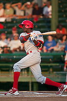Jiwan James of the Clearwater Threshers during the game against the Daytona Beach Cubs at Jackie Robinson Ballpark on April 11, 2011 in Daytona Beach, Florida. Photo by Scott Jontes / Four Seam Images