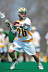 3 April 2010: University of Vermont Catamounts' Attacker Rory O'Connor, a Sophomore from Haverford, PA, in action against the Binghamton University Bearcats at Moulton Winder Field in Burlington, Vermont. The Catamounts defeated the visiting Bearcats 11-8 in Vermont's opening home game of the 2010 season. Mandatory Credit: Ed Wolfstein Photo