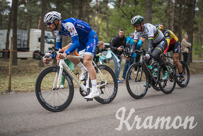 Tom Boonen (BEL/Quick-Step Floors) & world champion Peter Sagan (SVK/Bora-Hansgrohe) leading the way at the Tom Boonen farewell race/criterium 'Tom Says Thanks!' in Mol/Belgium