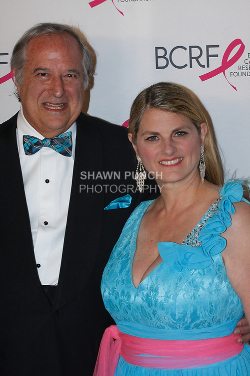 "Stewart F. Lane and Bonnie Comley attend The Breast Cancer Research Foundation ""Super Nova"" Hot Pink Party on May 12, 2017 at the Park Avenue Armory in New York City."