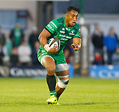 9th September 2017, Galway Sportsground, Galway, Ireland; Guinness Pro14 Rugby, Connacht versus Southern Kings; Bundee Aki  on the ball for Connacht