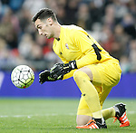 Sevilla's Sergio Rico during La Liga match. March 20,2016. (ALTERPHOTOS/Acero)
