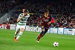 UEFA Champions League 2013/2014.<br /> FC Barcelona vs Celtic FC: 6-1 - Game: 6.<br /> Adam Matthews vs Neymar.