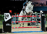 Jane Richard Philips of Switzerland riding Pablo de Virton competes at the Hong Kong Jockey Club trophy during the Longines Hong Kong Masters 2015 at the AsiaWorld Expo on 13 February 2015 in Hong Kong, China. Photo by Juan Flor / Power Sport Images