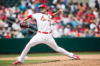 Kevin Siegrist #35 of the Springfield Cardinals delivers a pitch during a game against the Tulsa Drillers at Hammons Field on May 7, 2013 in Springfield, Missouri. (David Welker/Four Seam Images)