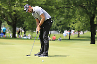 Charl Schwartzel (RSA) takes his putt on the 10th green during Saturday's Round 3 of the WGC Bridgestone Invitational 2017 held at Firestone Country Club, Akron, USA. 5th August 2017.<br /> Picture: Eoin Clarke | Golffile<br /> <br /> <br /> All photos usage must carry mandatory copyright credit (&copy; Golffile | Eoin Clarke)