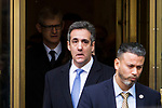 Former Trump lawyer Michael Cohen attends his sentencing in New York