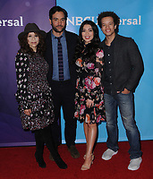 09 January 2018 - Pasadena, California - Rosie Perez, Josh Radnor, Auli'i Cravalho, Damon J. Gillespie. 2018 NBCUniversal Winter Press Tour held at The Langham Huntington in Pasadena. <br /> CAP/ADM/BT<br /> &copy;BT/ADM/Capital Pictures