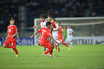 Myanmar vs Yemen during the 2014 AFC U19 Mens Championship group A match on October 09, 2014 at the Thuwunna Stadium, in Yangon, Myanmar. Photo by World Sport Group