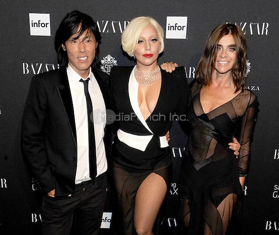 New York, NY-September 5: Lady Gaga, Stephen Gan and Carine Roitfeld attend Harper's Baazar Celebrates Icons By Carine Roitfeld on September 5, 2014 at the Plaza Hotel in New York City. Credit: John Palmer/MediaPunch