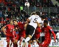 Kopfball Mats Hummels (Deutschland Germany) - 01.09.2017: Tschechische Republik vs. Deutschland, Eden Arena