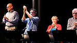 Bruce Kronenberg, Chris Sarandon, Amelia Campbell & Brian Dennehy during the Curtain Call for the 10th Anniversary Production of 'The Exonerated' at the Culture Project in New York City on 9/19/2012.