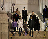 Washington, DC - January 10, 2009 -- United States President-elect Barack Obama, front right, walks with his wife Michelle, second left, and daughters Malia, left, and Sasha at the Lincoln Memorial in Washington, D.C., U.S., Saturday, January 10, 2009.   .Credit: Joshua Roberts - Pool via CNP