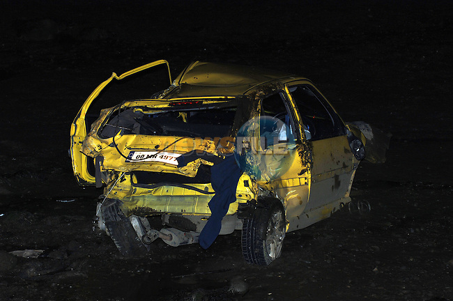 Remains of a Citroen Saxo involved in RTA on Baltray road Drogheda..Photo: Colin Bell / Newsfile