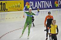 SCHAATSEN: HEERENVEEN: IJsstadion Thialf, 29-12-2015, KPN NK Afstanden, 1000m Dames, winnares Jorien ter Mors, ©foto Martin de Jong