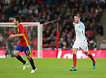England's Eric Dier accuses Spain's Ander Herrera of an elbow during the friendly match at Wembley Stadium, London. Picture date November 15th, 2016 Pic David Klein/Sportimage