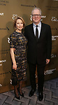 Carrie Coon and Tracy Letts attends the Roundabout Theatre Company's 2019 Gala honoring John Lithgow at the Ziegfeld Ballroom on February 25, 2019 in New York City.